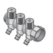 """Коллектор Uponor SH Q/E 1"""" HP-BP 2-16 с запорными вентилями, ц/ц 38, арт. 1048520"""
