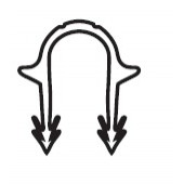 Фиксатор для степлера Uponor стандартный Ø14-20мм, H=40мм, арт. 1002296