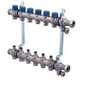 """Стальной коллектор Uponor 1"""" 2 петли, с балансировочными клапанами, арт. 1013062"""