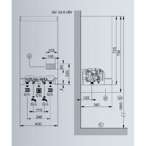 Viessmann двухконтурный схема